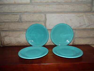 Fiesta 7 14 Salad Plate Turquoise  set of 4  NEW Never Used Fiestaware