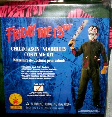 Jason Voorhees Child Size Costume VINTAGE NEW - One Size - FREE SHIPPING