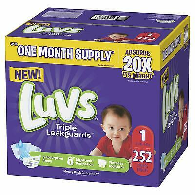 Luvs Ultra Leakguards Disposable Baby Diapers Newborn Size 1 252Count ONE MONTH
