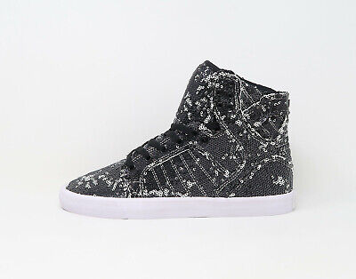 SUPRA Women Shoes Skytop White Black Sequence Pattern Vary
