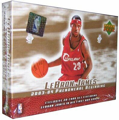 LEBRON JAMES 2003-04 Upper Deck 20 Rookie Card set BRAND NEW SEALED BOX