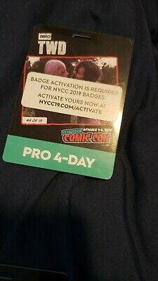 SOLD OUT New York ComicCon 4 Day Pro Badge Pass NYCC 2019 Activated Fan Verified
