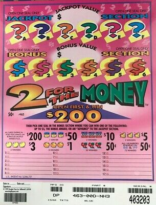Pull Tab Ticket 2 FOR THE MONEY 1540ct  218-00 PROFIT wFREE Shipping