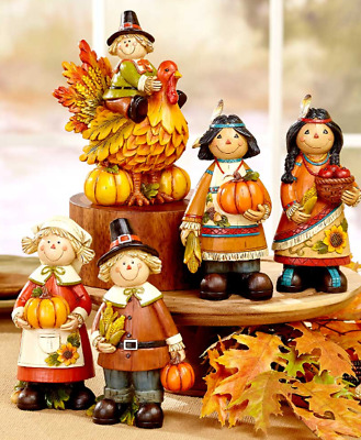 Thanksgiving Decorations Fall Home Dining Table Décor Turkey or Couple Figurines