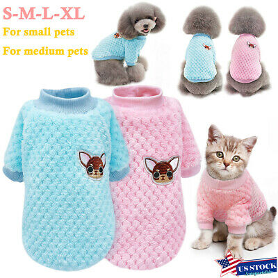 Pet Dog Winter Warm Jumper Pullover Sweater Small Medium Dog Clothes Outwear US