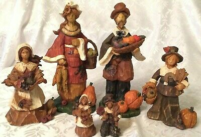 Thanksgiving Figurines - lot of 6 - Made by Ganz