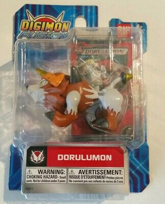 Bandai Digimon Fusion Dorulumon Mini Action Figure W Trading Card Dated 2013