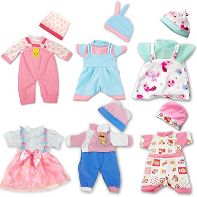 ARTST Doll Clothes 12 Baby Doll Clothes 6 Sets Include 5 Hats