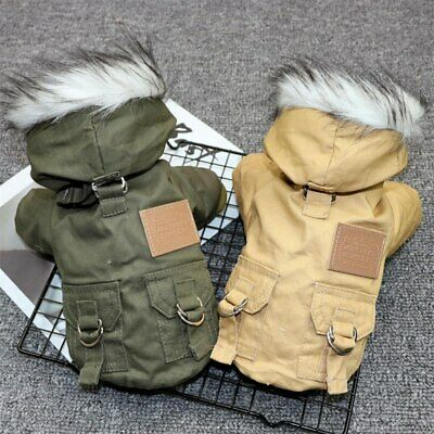 Small Dog Winter Coat Jacket Waterproof Chihuahua Clothes Fur Collar for Puppy