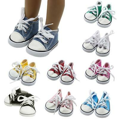 Doll Clothes fits American Girl Hot 18 Canvas Sneakers Gym Shoes Accessory US