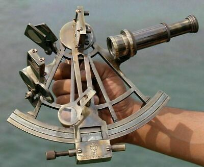 Nautical Marine Navigational Astrolabe Instrument Brass Sextant 8 Antique Gift