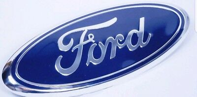 1 NEW BLUE - CHROME 2005-2014 Ford F150 FRONT GRILLETAILGATE 9 inch Oval Emblem