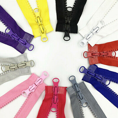 1pcs 5 resin Double zipper head zipper 35-5 inch 90CM for clothing or bags