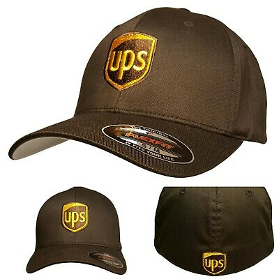 UPS FLEXFIT Style 6277 Embroidered on Front - Back of the Baseball Hat