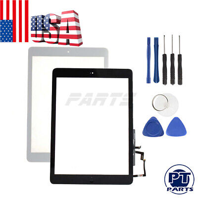 For iPad Air Screen Replacement 1st A 1474 1475 1476 Touch Digitizer-Home Button