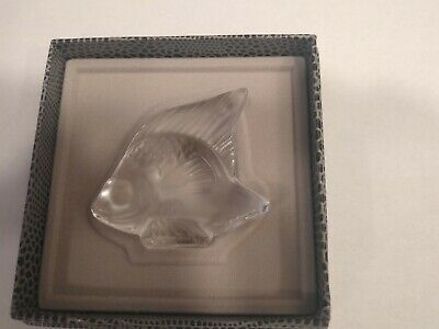 Lalique Fish Crystal Figurine