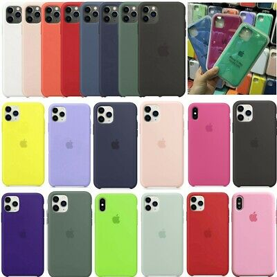 Original OEM Silicone Back Cover Case For Apple iPhone 11 Xs XR Pro Max SE 7 8-