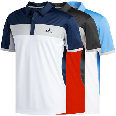 Adidas Golf Mens ClimaLite Blocked Polo Shirt NEW