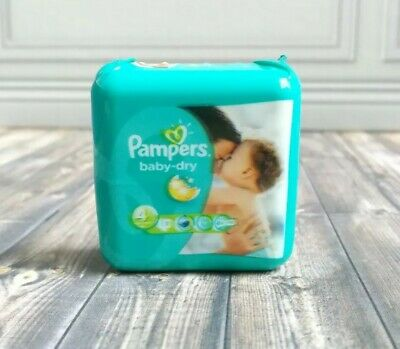 Miniature Accessory Pampers Baby Diaper Container for Barbie