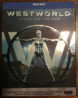 Westworld Season One 3-Disc Set Blu-Ray w Premium Collectible Booklet In Box