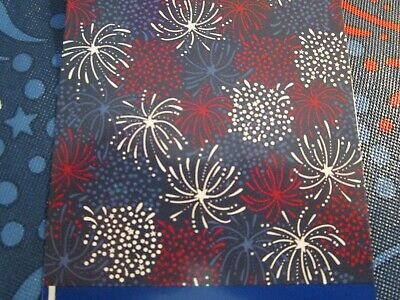 4TH OF JULY FIREWORKS PEVA TABLECLOTH 60 ROUND NIP