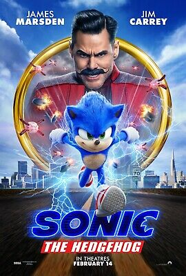 Sonic the Hedgehog 2020 Movie Poster Multiple Sizes