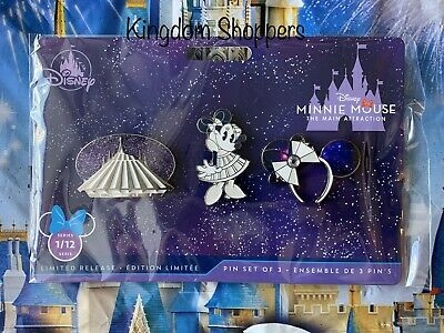 Pin Set Minnie Mouse The Main Attraction SPACE MOUNTAIN January 2020 In Hand