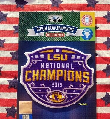Official 2019 College Football National Champions Collectible Patch LSU Tigers