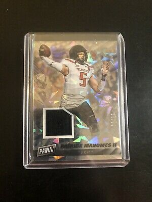 Patrick Mahomes 2019 Panini Cyber Monday Cracked Ice Jersey Relic Patch 25