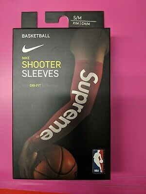 New Supreme NBA Shooting 2 Sleeves FW17 Red Black LXL SM USA Stock