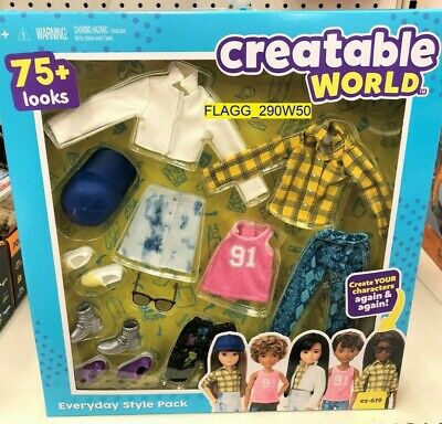 Mattel CREATABLE WORLD Everyday Style Pack ES-619 Doll Clothes - Accessories