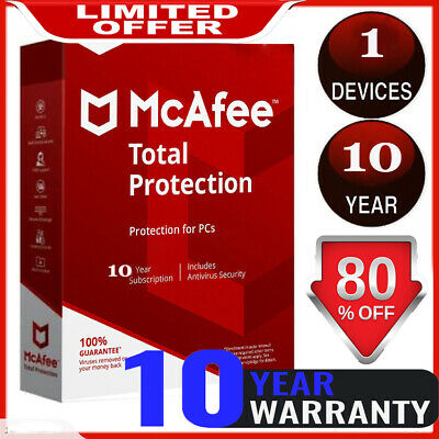 McAfee Total Protection 2020 🔰  1 Device 10 Years ✅ ínstant Dєlivery📥