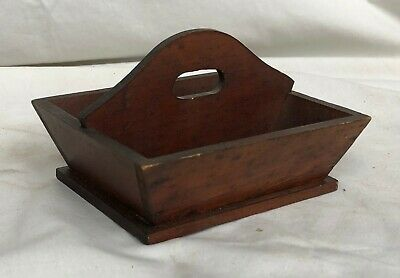 Antique Vintage Miniature Divided Carrier Canted Knife Box Tray Original Finish