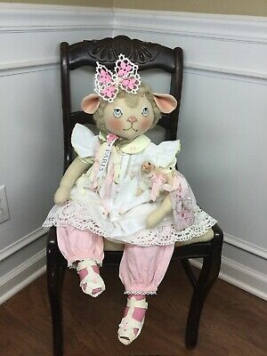 Primitive Folk Art Shabby Chic Lamb Doll