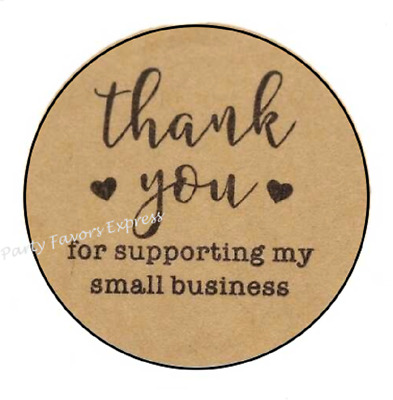 30 THANK YOU FOR SUPPORTING MY BUSINESS ENVELOPE SEALS LABELS STICKERS 1-5