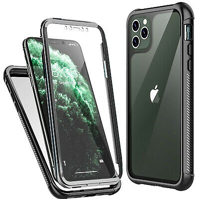For iPhone 11 Pro Max XS X XR Case Clear Full body Cover wt Screen Protector