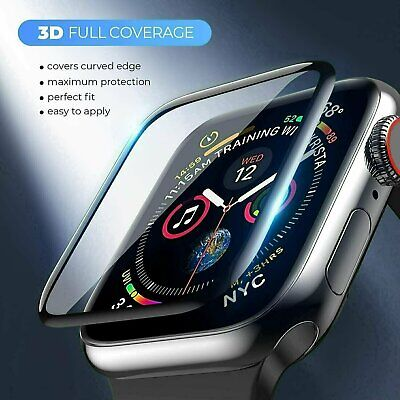 3D Tempered Glass Screen Protector For Apple Watch iWatch 5 4 3 2 38404244 mm