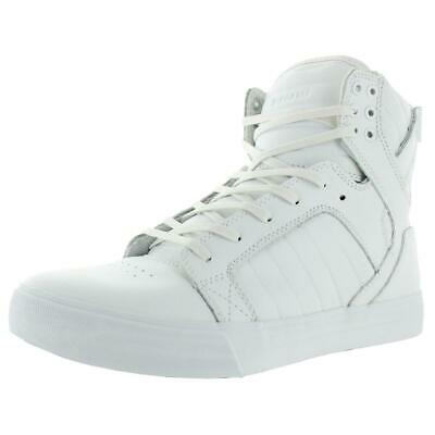 Supra Mens Skytop White Leather High Top Sneakers Shoes 9 Medium D BHFO 5589