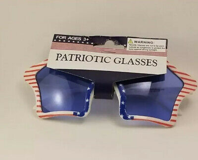 Patriotic Glasses Red White Blue Fourth Of July Memorial Day Stars And Stripes