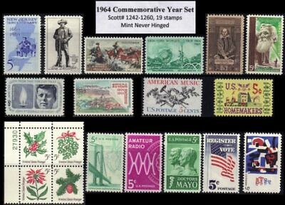 RJames 1964 Commemorative Year Set 19 stamps MNH F-VF