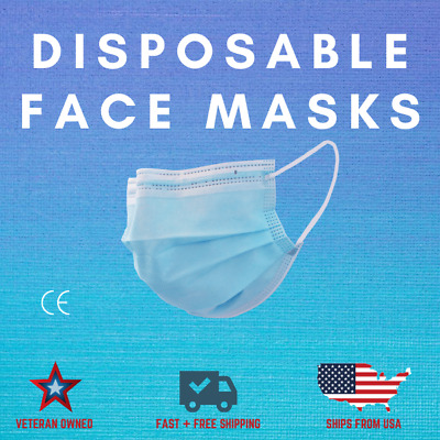 100 PCS Disposable Face Mask Non- Medical 3-Ply Mouth Cover