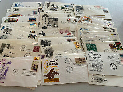 Super Lot of 100 US First Day Covers FDC Cacheted UA With Bonus