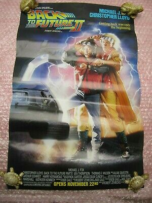VINTAGE ORIGINAL 1989 MOVIE POSTER BACK TO THE FUTURE 2 21 x 13-5 NO REPRO