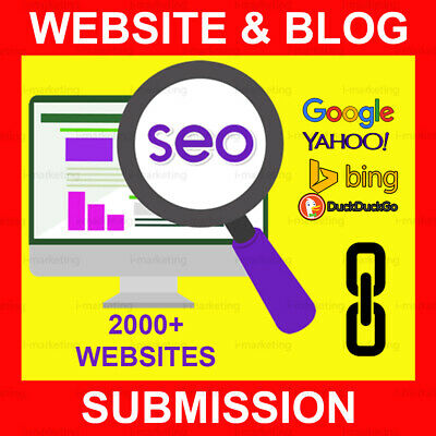 Submit your Website or Blog to 2000- Websites Backlinks Help SEO Submission