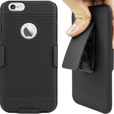 Cell Phone Case For Apple iPhone 6 6S 4-7inch With Belt Clip Cover Hard Black