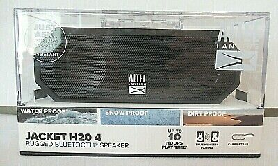 ALTEC LANSING JACKET H20 4 Rugged Bluetooth Speaker Black IMW449N-BLKC-WM