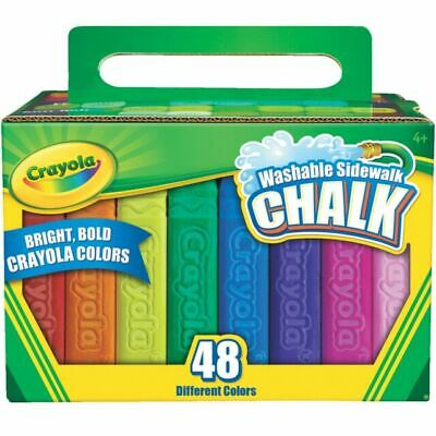 Crayola 48ct Washable Sidewalk Chalk Assorted Colors New FREE FAST SHIPPING