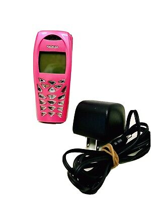 Nokia 3585i Vintage 2003 Pink Alltel Cell Phone - Home Charger Working Charged