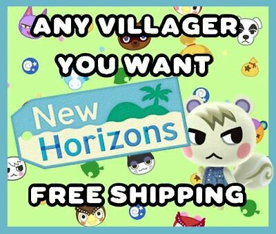 ANIMAL CROSSING NEW HORIZONS AMIIBO NFC CARD - ANY VILLAGER YOU WANT  FREE SHIP