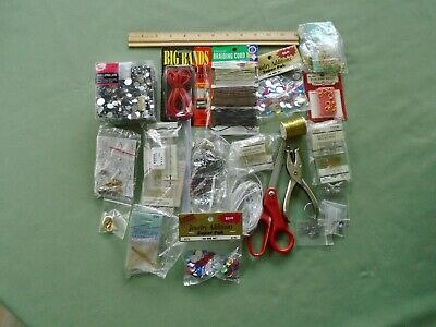 Large Mixed Lot Craft Jewelry Findings Making Supplies Accessories Approx- 2 LB